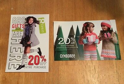 Gymboree Crazy 8 20% off Purchase Coupon Exp 1/31/17 In store On line FAST EMAIL