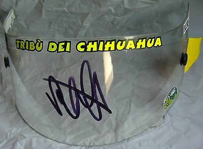 Valentino Rossi Hand Signed AGV Helmet Clear Race Visor Signed Brno 2008