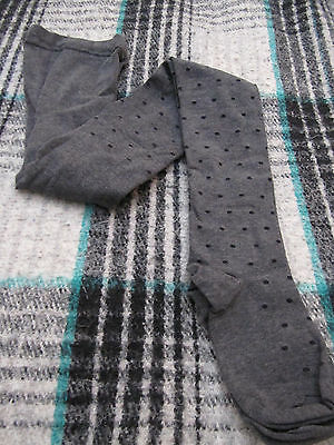 Hue Women's Gray Polka Dot Tights - Size S/m (New In Package)