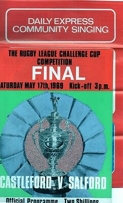 A selection of Castleford RL Cup Final Programmes