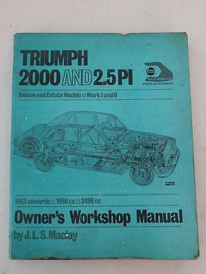 Early 1963 Haynes Workshop Manual For Classic Triumph 2000 & 2.5 Pi*mk 1 & 2*