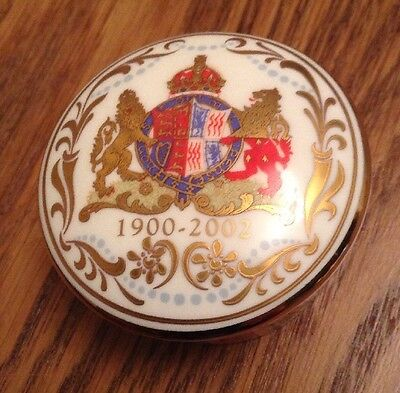 Royal Collection, bone china pill box, To Celebrate The Queen Mother