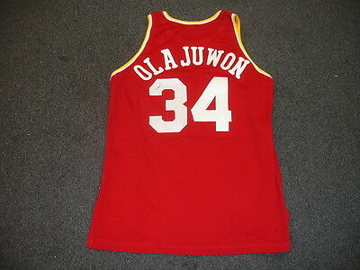 1993-94 Akeem Olajuwon Houston Rockets Game Used NBA Road Jersey-#34