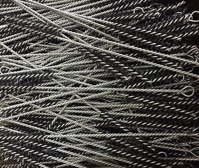 Job Lot 100x Round Wire Brush Steel Pipe Cleaner Black 22 Length 7mm Tube