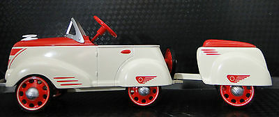 Pedal Car Rare 1940s Ford w/ Trailer Vintage Sport Midget Metal Show Model Art