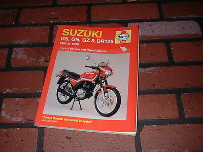 Haynes Manual For Suzuki Gs125 Gn125 Gz125 Dr125. 1982 To 1999.
