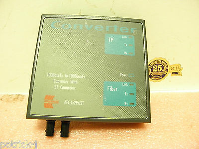 Addtron model AFC-Tx2Fx/ST  Converter 100BaseTx to 100BaseFx with ST Connector
