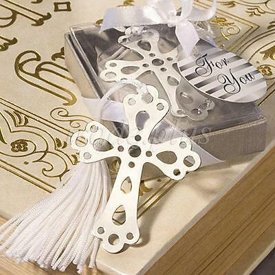 Hollow Cross Bookmark Baby Christening Gift Wedding Favour Holy Communion -6A
