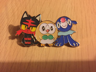 Rowlett, Litten, and Popplio Collectors Pin Badge - Pokemon Trading Card Game