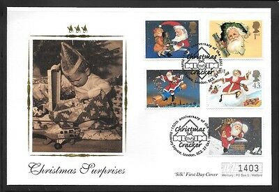 Limited Edition 'Silk' First Day Cover - Christmas Crackers 27.10.97
