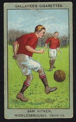 Gallaher Football Club Colours Card 1910 - Middlesbrough.