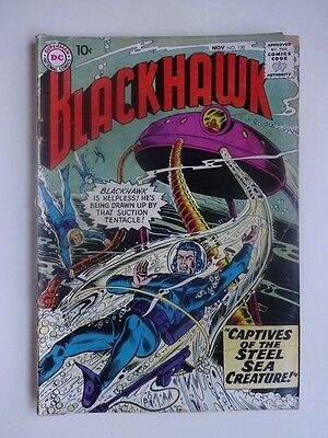 Blackhawk #130   War  Maegland   Captives of the Steel Sea Creature  Dick Dillin