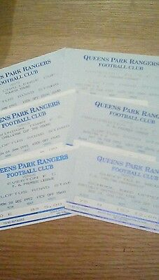 Queens park rangers used ticket collection. 1990's.