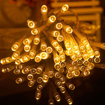 30M 300 LED Warm White String Fairy Lights Indoor/Outdoor Xmas Christmas Party