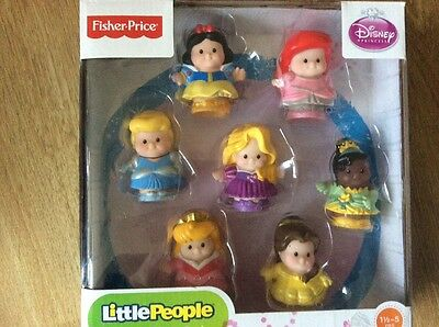 Fisher Price Little People - Disney Princess 7 Figure Pack ... New & Sealed