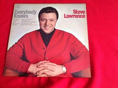 Steve Lawrence Everybody Knows (1964) Lp  Mono-Cl 2227 Columbia Records