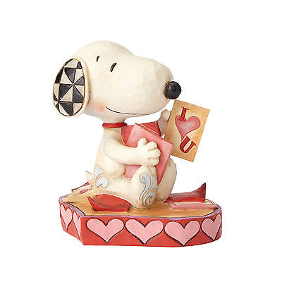 Jim Shore Valentine's Day Peanuts Snoopy Puppy Love With Card New 2017 4055652