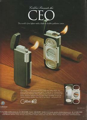 Calibri CEO Cigar Lighter & Cutter Vintage Print Ad 1998 Rare