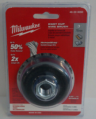 Milwaukee 48-52-5050 3 in. Knot Wire Cup Brush - Stainless Steel