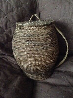 Papago Indian Handled Basket 1930's Or 40's