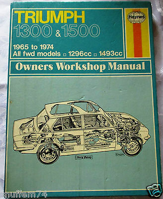Triumph 1300 & 1500 -Haynes Owners Workshop Manual- See Picture For Models