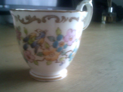 Crown Staffordshire Hand Painted Cup