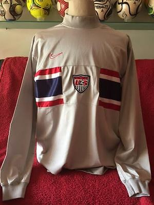 Nike Soccer Jersey Usa World Cup France 1998 Size M Long Sleeves