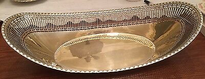 Vintage Silver Plated Pierced FRUIT BOWL
