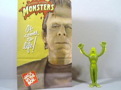 Vintage Creature Black Lagoon Monster toy with original Jack in The Box Food bag