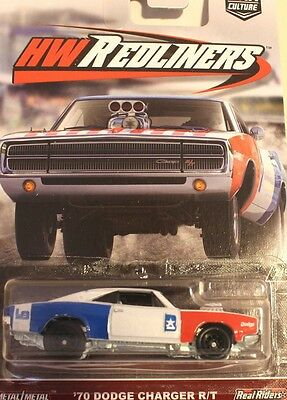 Hotwheels 2017  Car Culture 70 Dodge Charger Rt Real Rider Rubber Tyres