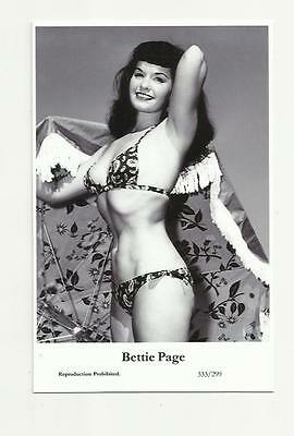 (N90) Glamour Bettie Page Swiftsure (333/299) Photo Postcard Film Star Pin Up