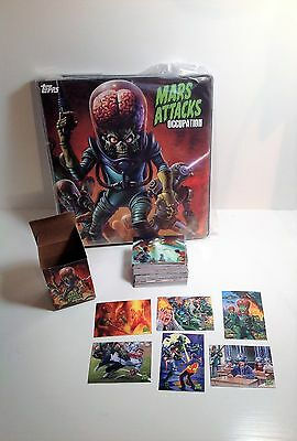2016 Topps Mars Attacks Occupation - 81 Card Base Set In Box with Binder