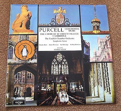 PURCELL - Ceremonial Music : Choir of St John's College Cambs, Guest - Argo LP
