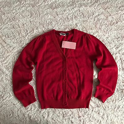Girls BNWT Winter Red Cardigan 6-7 7-8 years