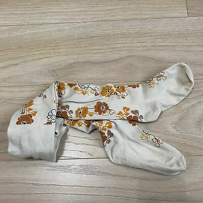 Girls BNWT NEXT Beautiful Tights Ochre Floral Print  4-5 years