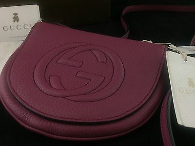 SOLD OUT! NWT Gucci Childrens Pink Leather Peonia Flower Flap Messenger!