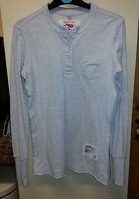 Women's Superdry limited edition long sleeved T Shirt Grey Marle Size small