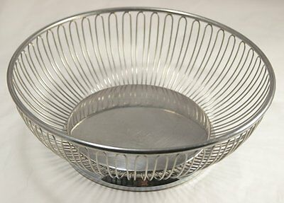 Alessi Round Wire Metal Bowl Basket Inox 18/10 Italy