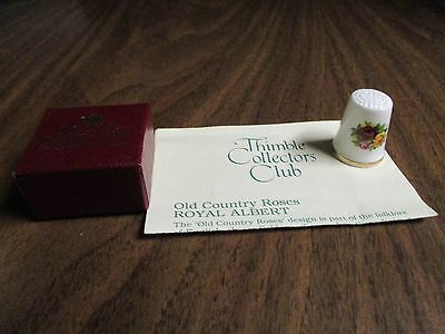 """Thimble Collectors' Club Porcelain Thimble, by Royal Albert  """"COUNTRY ROSES"""""""