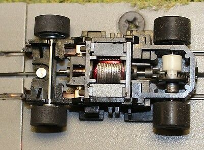 Aurora AFX New Tyco 440X2 wide pan chassis