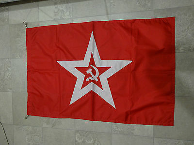 Ussr Military Naval Flag Combat Ships On An Anchor Or Fortress
