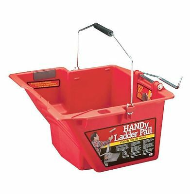 HANDy Paint Pail 1-Gal. Ladder Bucket with Magnetic Brush Holder and Roller Grid