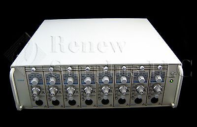 Gould Instruments 6600 8 Channel Amplifier Chassis with 8 Transudcers