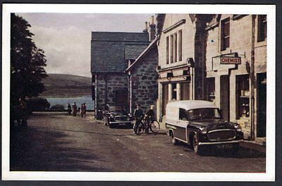 Lairg, Sutherland, With Little Loch Shin In Background. Real Photo. unused.
