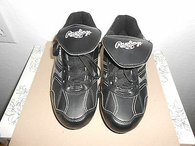 New Rawlings Black Youth Baseball Cleats size 5 never worn NEW