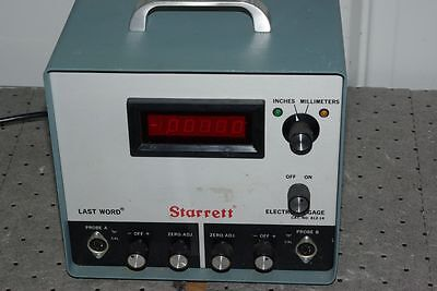 Starrett Cat. No. 812-14 Last Word Electronic Gage No Probes for Parts