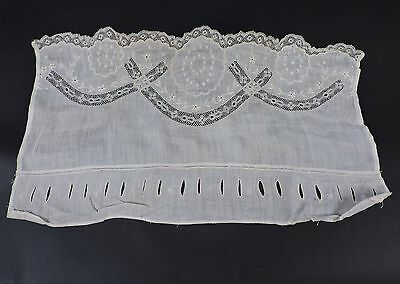 Edwardian Camisole Front With Embroidery And Lace