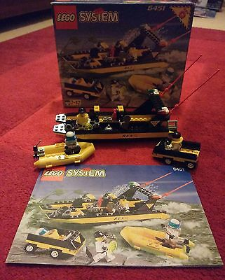 LEGO System 6451 Res-Q River Response COMPLETE BOXED + INSTRUCTIONS