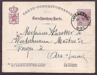 z2562/ Luxembourg Stationery Cover 1877