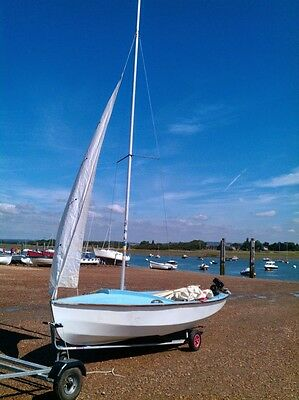 GRP Wayfarer Dinghy 1020 with launching trolley, road trailer, cover & outboard